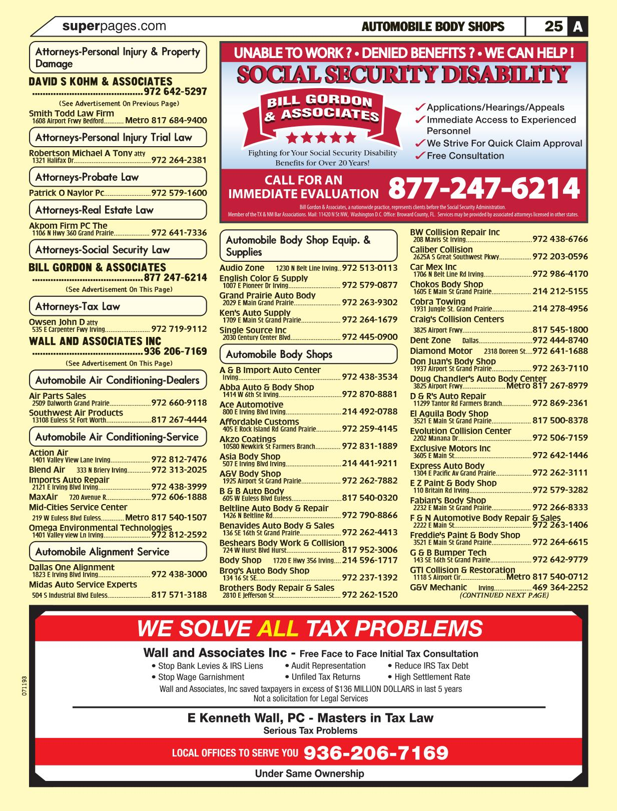 Automobile Body Shops Grand Prairie Tx Page 26 Yellow Pages